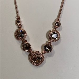 Givenchy Crystal Rose Gold Tone Necklace